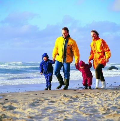 Familie am Strand DK