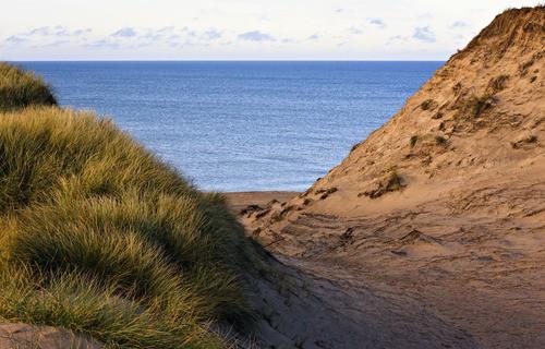 Strand und Dünen bei Lodbjerg am Meer, Westjütland, Dänemark