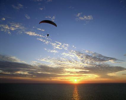 paragliding an der westküste dänemarks