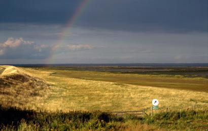 Regenbogen auf der Insel Römö